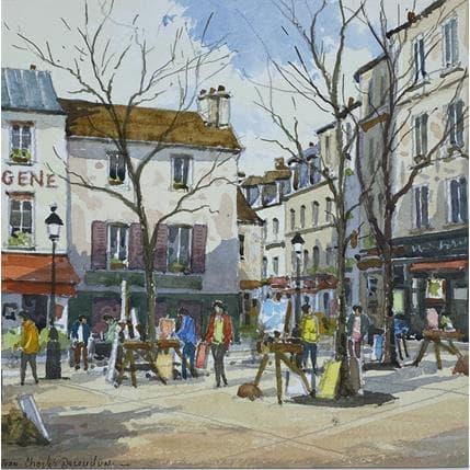 Jean-Charles Decoudun Montmartre 25 x 25 cm