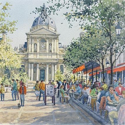 Jean-Charles Decoudun Paris la Sorbonne 36 x 36 cm