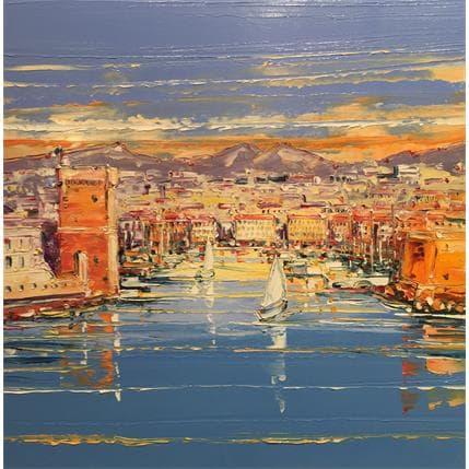 Liisa Corbière Lumière dorée sur Marseille 36 x 36 cm