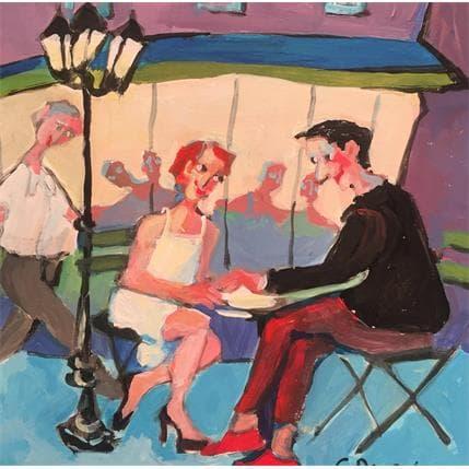 Christine Doucedame Nocturne en terrasse 19 x 19 cm