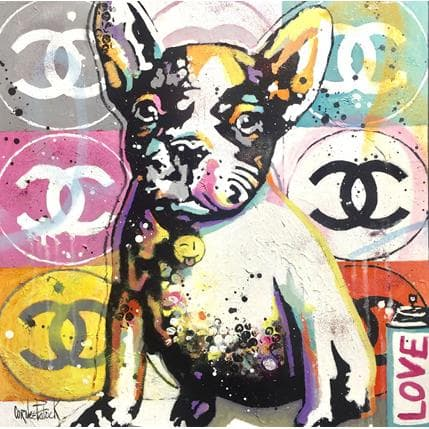 Patrick Cornée Pop Bulldog, Chanel 50 x 50 cm
