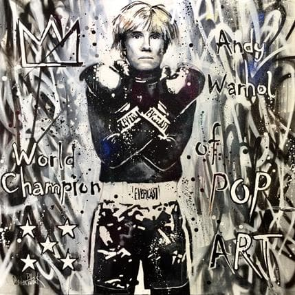 Patrick Cornée Andy Warhol, world champion of pop art 100 x 100 cm