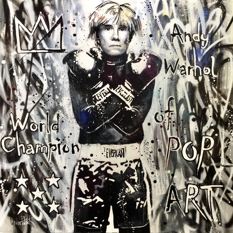 Large Paintings Mixedandy Warhol World Champion Of Pop Art By Patrick Cornée Carré D Artistes