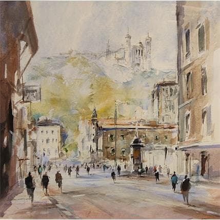 Richard Poumelin Lyon centre 36 x 36 cm
