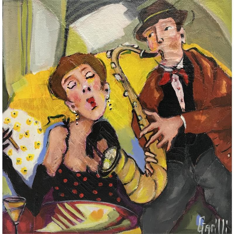 Saxophoniste en amour