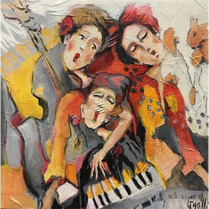 Nicole Garilli Amitiés musicales 36 x 36 cm