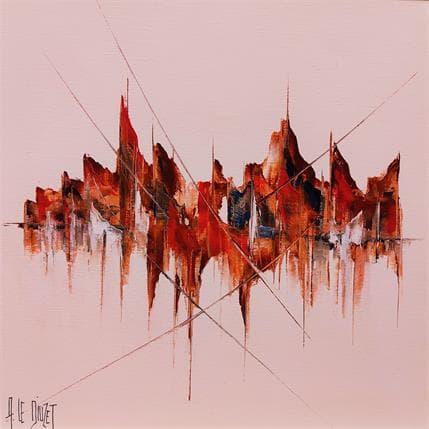 Albert Le Diuzet Composition spectre marine Ly 2 36 x 36 cm