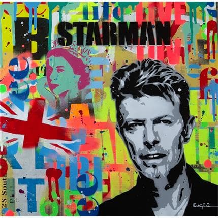 Philippe Euger David Bowie 36 x 36 cm