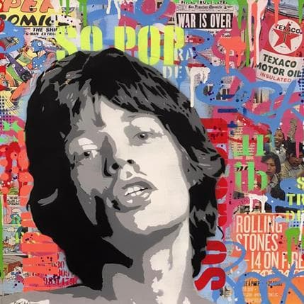 Philippe Euger Mick Jagger 50 x 50 cm