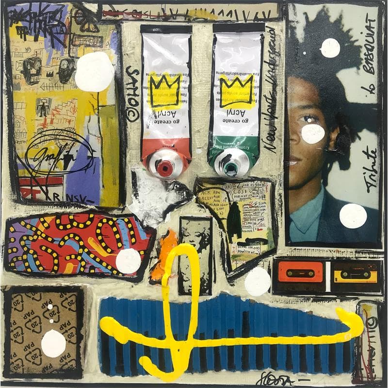 Tribute to Basquiat (blanc)