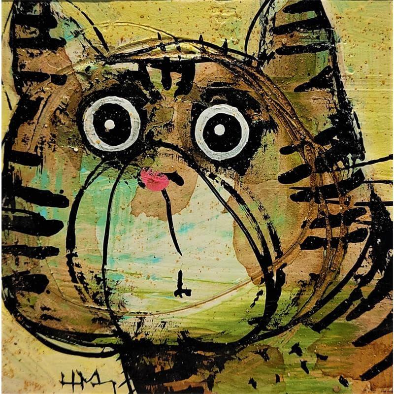 Chat tigré vert