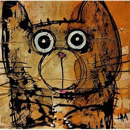 Hervé Maury Chat bicolore 13 x 13 cm