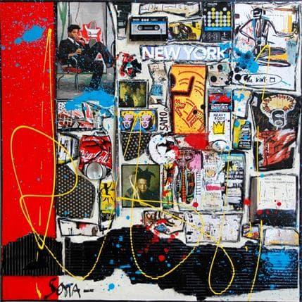 Sophie Costa Basquiat La Rage Créatrice 80 x 80 cm