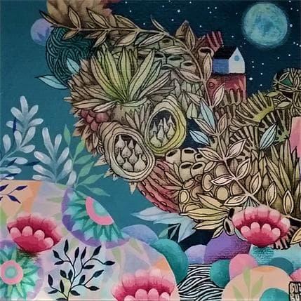 BuiBui Petite maison sous la lune 19 x 19 cm