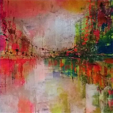 Emmanuelle Levesque Les reflets du canal 19 x 19 cm