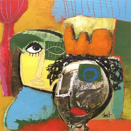 C.BOST Andy and Jean Michel 36 x 36 cm
