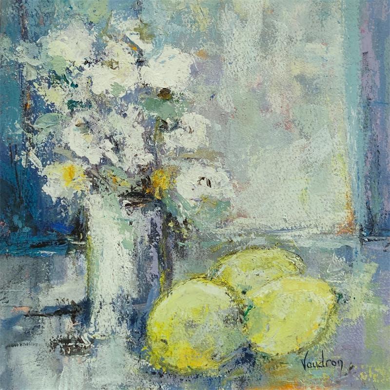 Les citrons au bouquet blanc