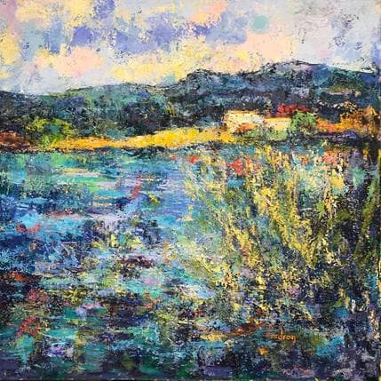Vaudron L'étang de la Bonde à Cucuron  50 x 50 cm