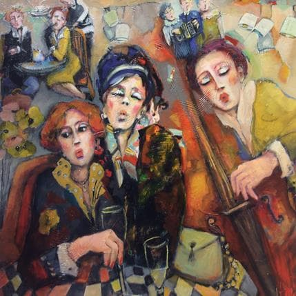 Nicole Garilli Douces retrouvailles musicales 80 x 80 cm