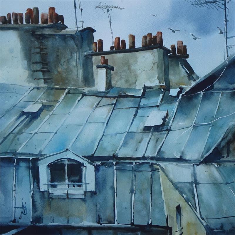 Parmi les gris des toits
