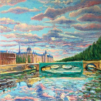 P.Bonart Paris, le Pont Notre-Dame 80 x 80 cm