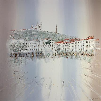 Rousseau Patrick Promenade à l'aube 100 x 100 cm