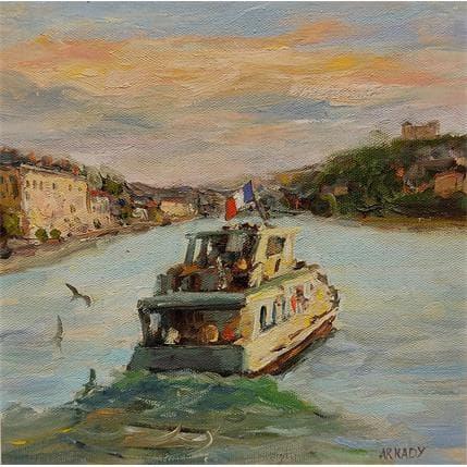 Arkady La promenade en bateau 25 x 25 cm