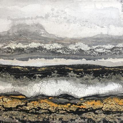 Etienne Boiteux C80-19-Golden Sediments 80 x 80 cm