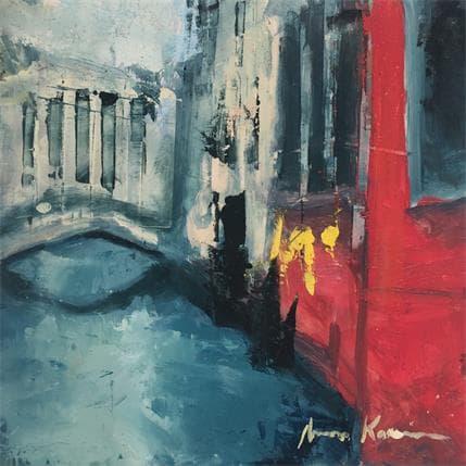 Amine Karoun Venise canal 13 x 13 cm