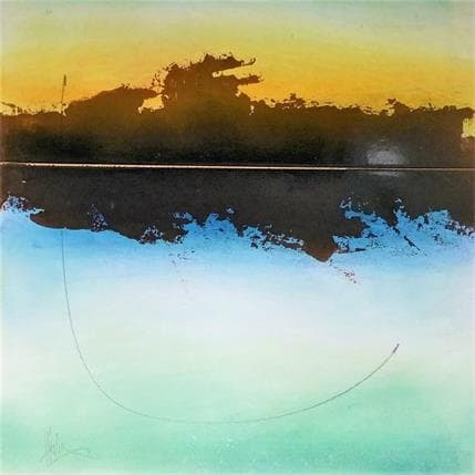 Christian Hévin Abstraction #3 25 x 25 cm