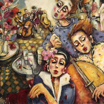 Nicole Garilli Tchin tchin sur rythm and blues 80 x 80 cm