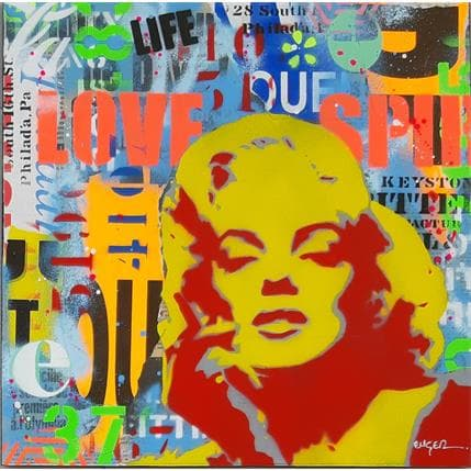 Philippe Euger Pop Marilyn 36 x 36 cm