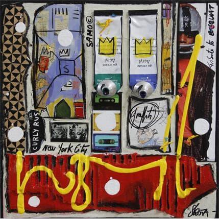 Sophie Costa tribute to basquiat 19 x 19 cm