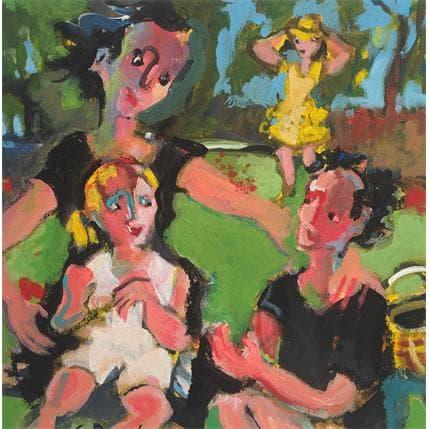 Christine Doucedame Coline et ses petits enfants 19 x 19 cm