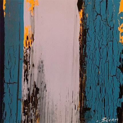 Carole Becam Bandes colorées n°12 19 x 19 cm
