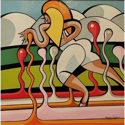 Alfredo Lopez LES NOUVEAUX PAYSANS 25 x 25 cm