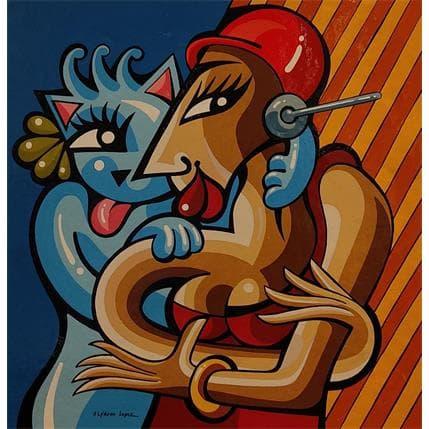 Alfredo Lopez LE VIRTUEL REEL 36 x 36 cm