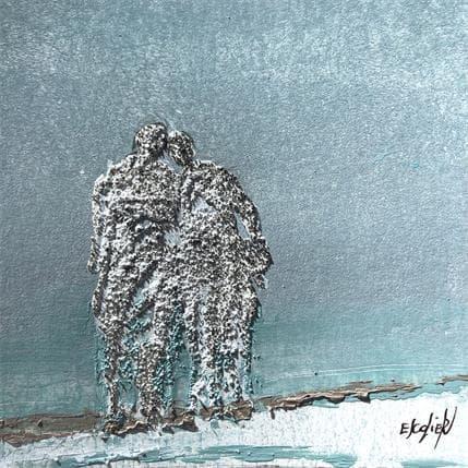 Odile Escolier DOUCEUR BLEUTEE 13 x 13 cm