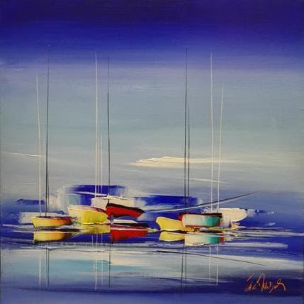 Eric Munsch Voyage d'Outremer 80 x 80 cm