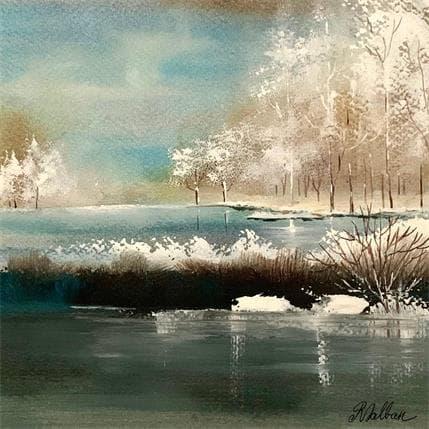 Rose Dalban Le lac gelé 19 x 19 cm