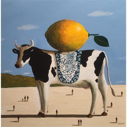 Pascal Lionnet Vache 36 x 36 cm
