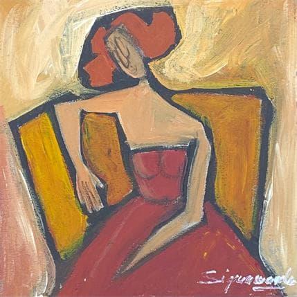 Bernard Signamarcheix Fauteuil jaune 13 x 13 cm