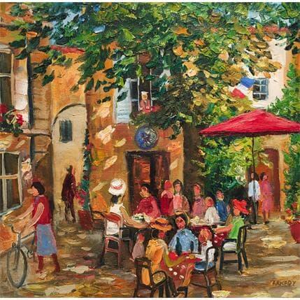 Arkady Un café en terrasse 36 x 36 cm