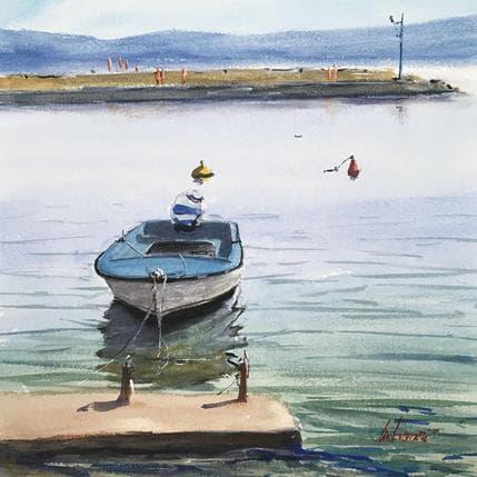 Cirkvencic Tihomir Old boat in a barbour 36 x 36 cm