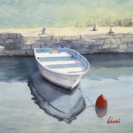 Tihomir Cirkvencic Red, blue, boat 36 x 36 cm