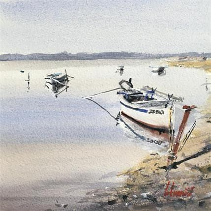 Tihomir Cirkvencic Few old boats 19 x 19 cm