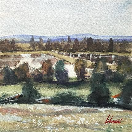 Tihomir Cirkvencic Lake view 25 x 25 cm