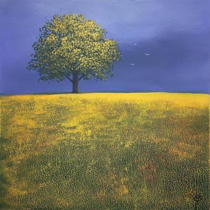 Yves Ogier L'arbre aux oiseaux 36 x 36 cm