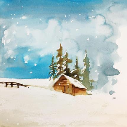 Marta R. Gustems La neu au de mica en mica 25 x 25 cm