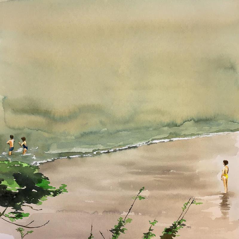Els tres a la platja
